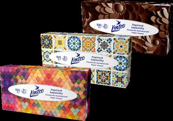 Chusteczki higieniczne Linteo – białe, 2-warstwowe, 100 szt. w pudełku